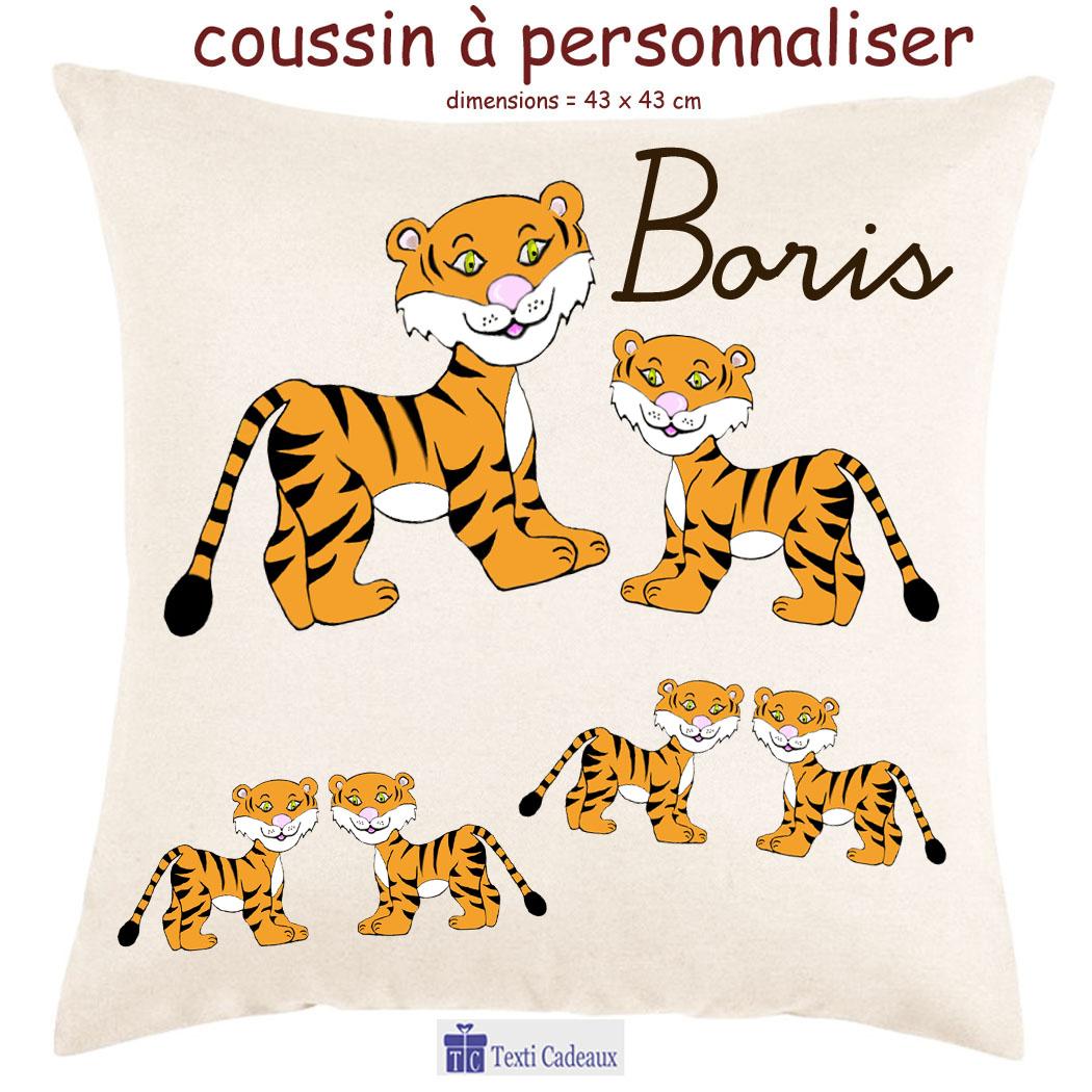 Coussin tigre à personnaliser