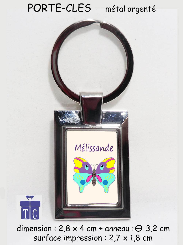 Porte clés papillon à personnaliser