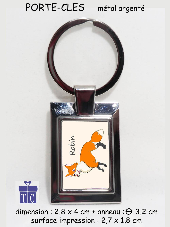 Porte clés renard à personnaliser