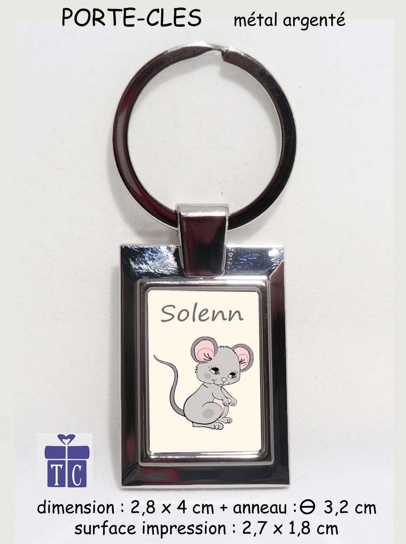 Porte clés souris à personnaliser