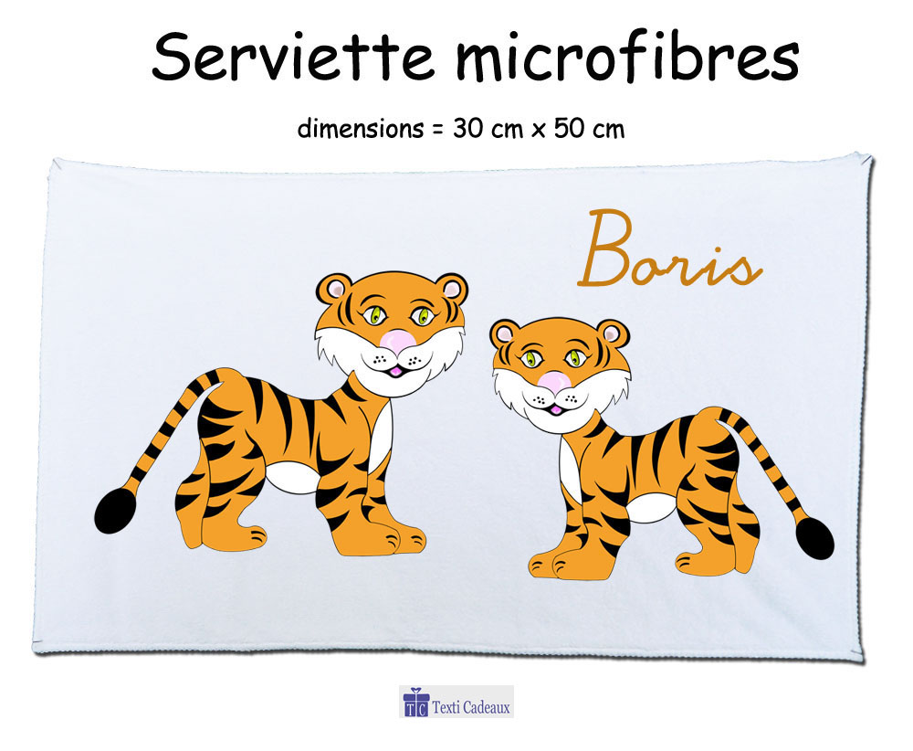 Essuie mains tigre à personnaliser