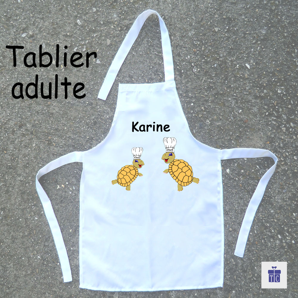 Tablier cuisine adulte Tortue