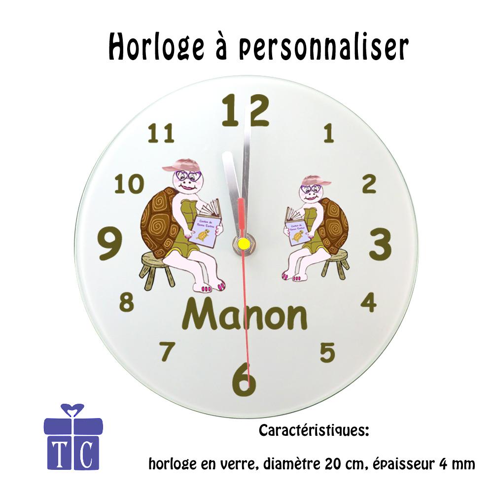 Horloge Tortue avec son Livre à personnaliser