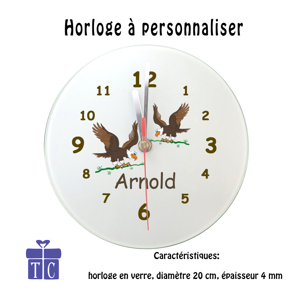 Horloge aigle