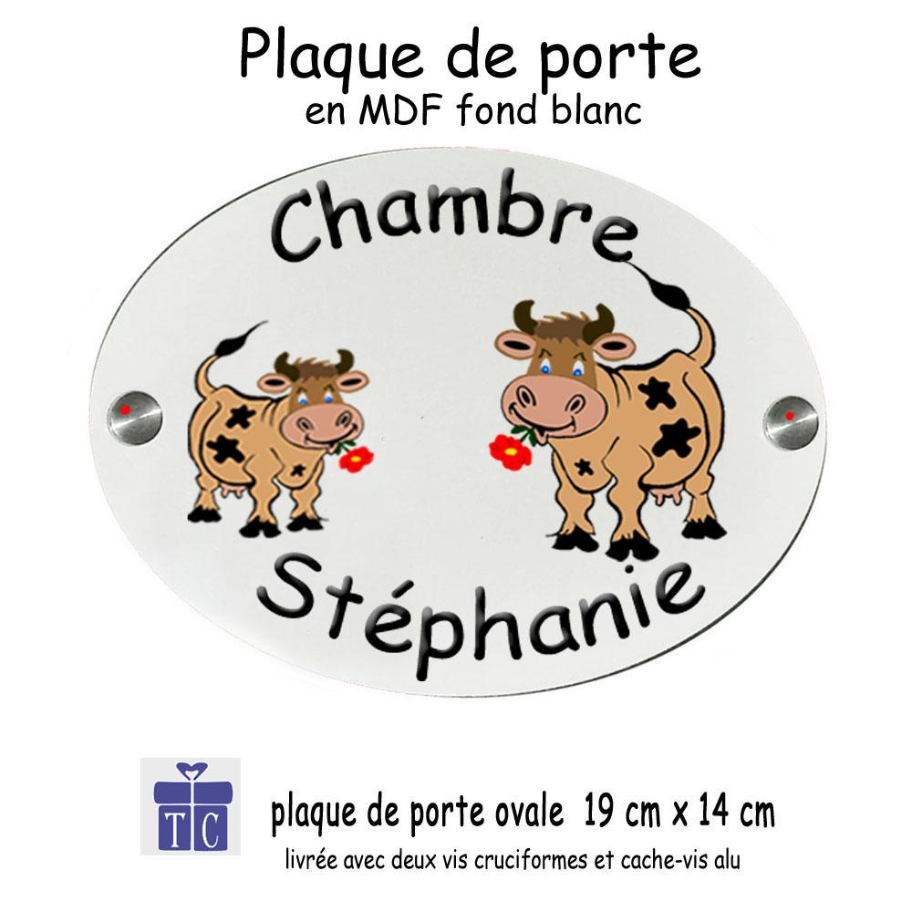 Plaque de Porte Vache