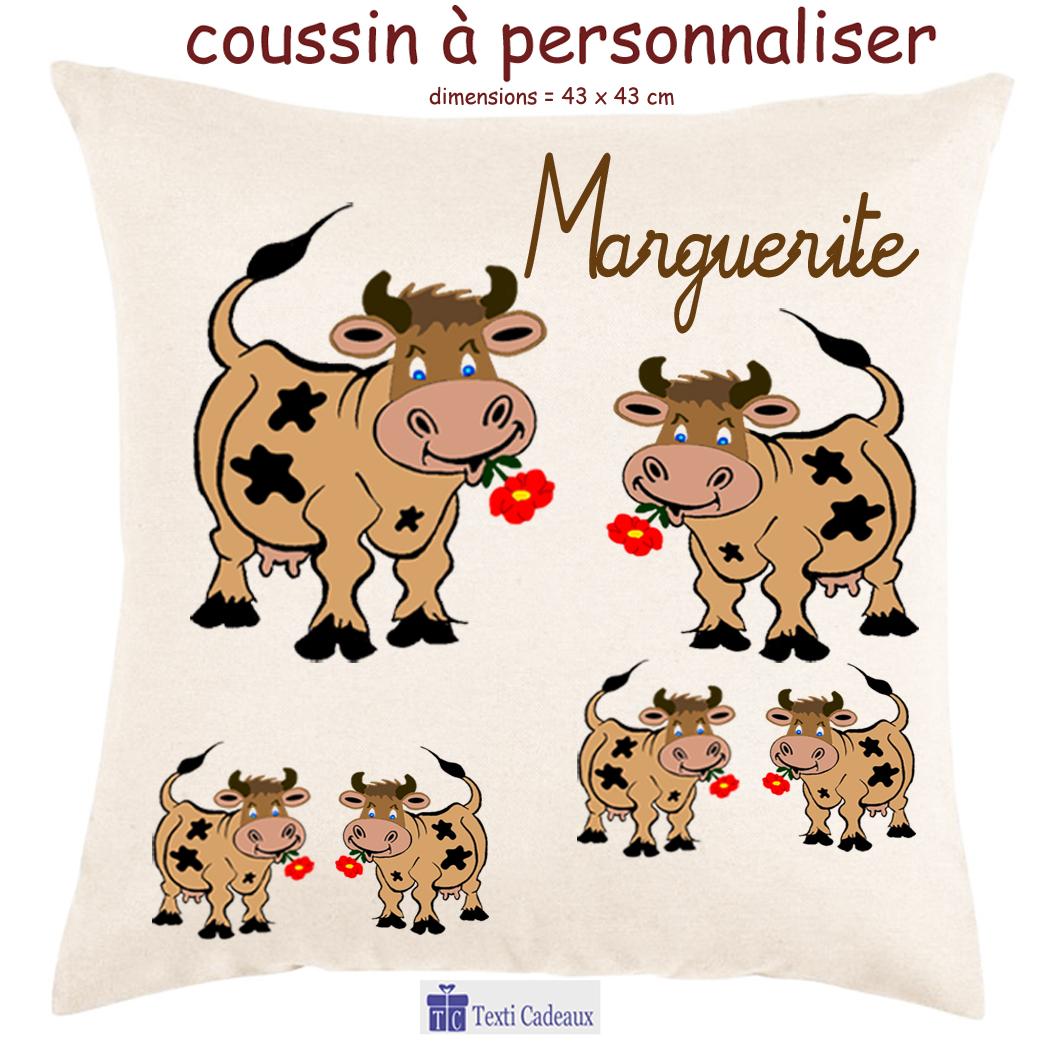 Coussin vache à personnaliser