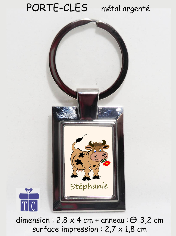 Porte clés vache à personnaliser