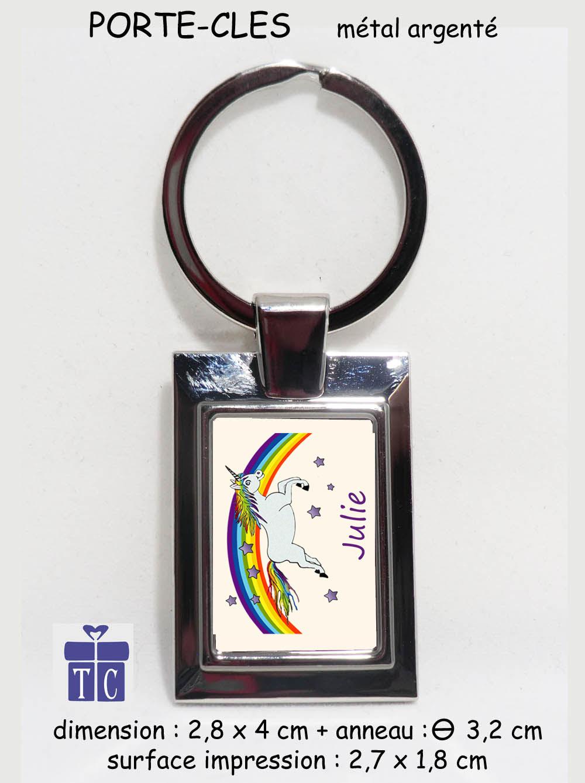 Porte clés licorne à personnaliser