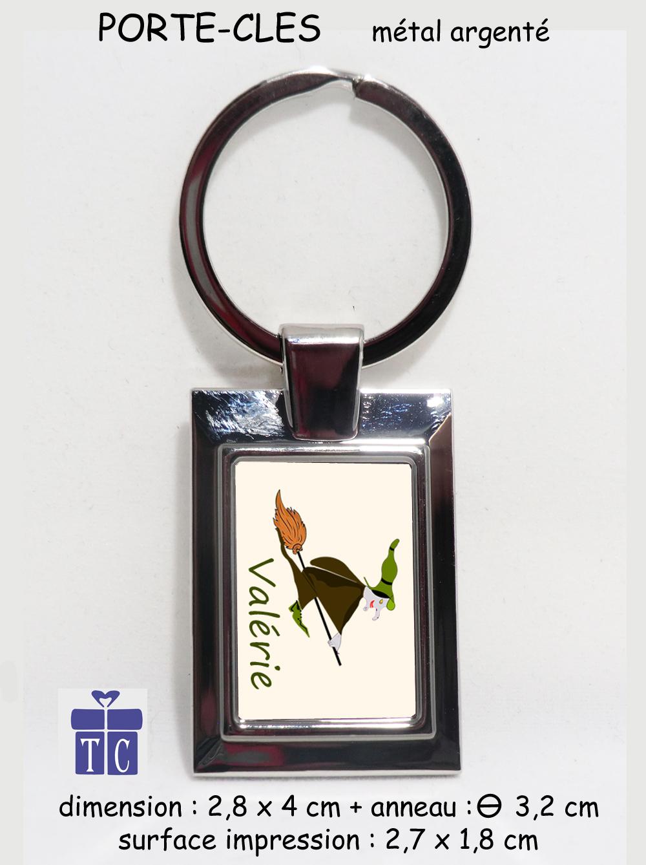 Porte clés sorcière à personnaliser