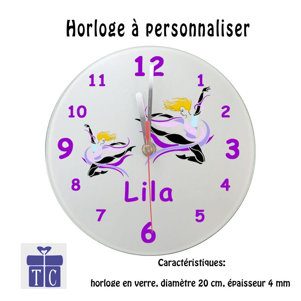 Horloge Danseuse à personnaliser