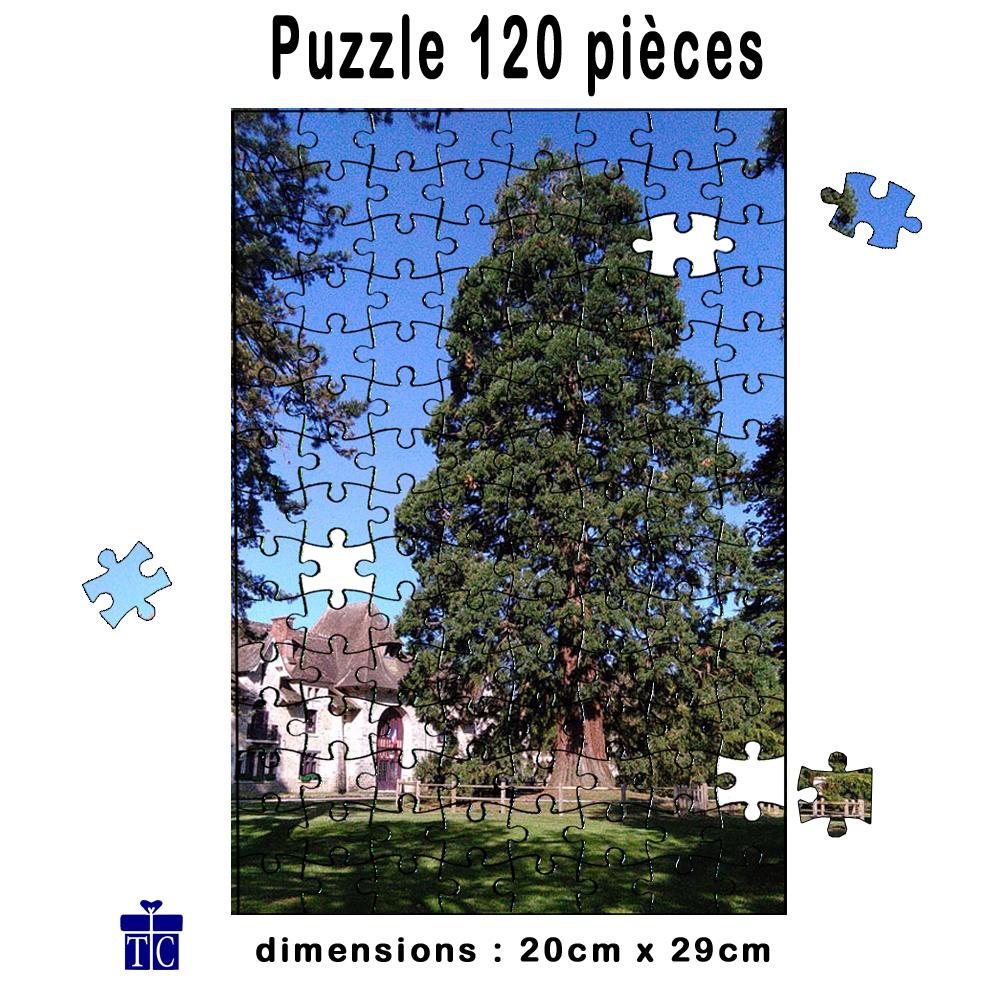 Puzzle 120 pièces personnalisable avec une photo