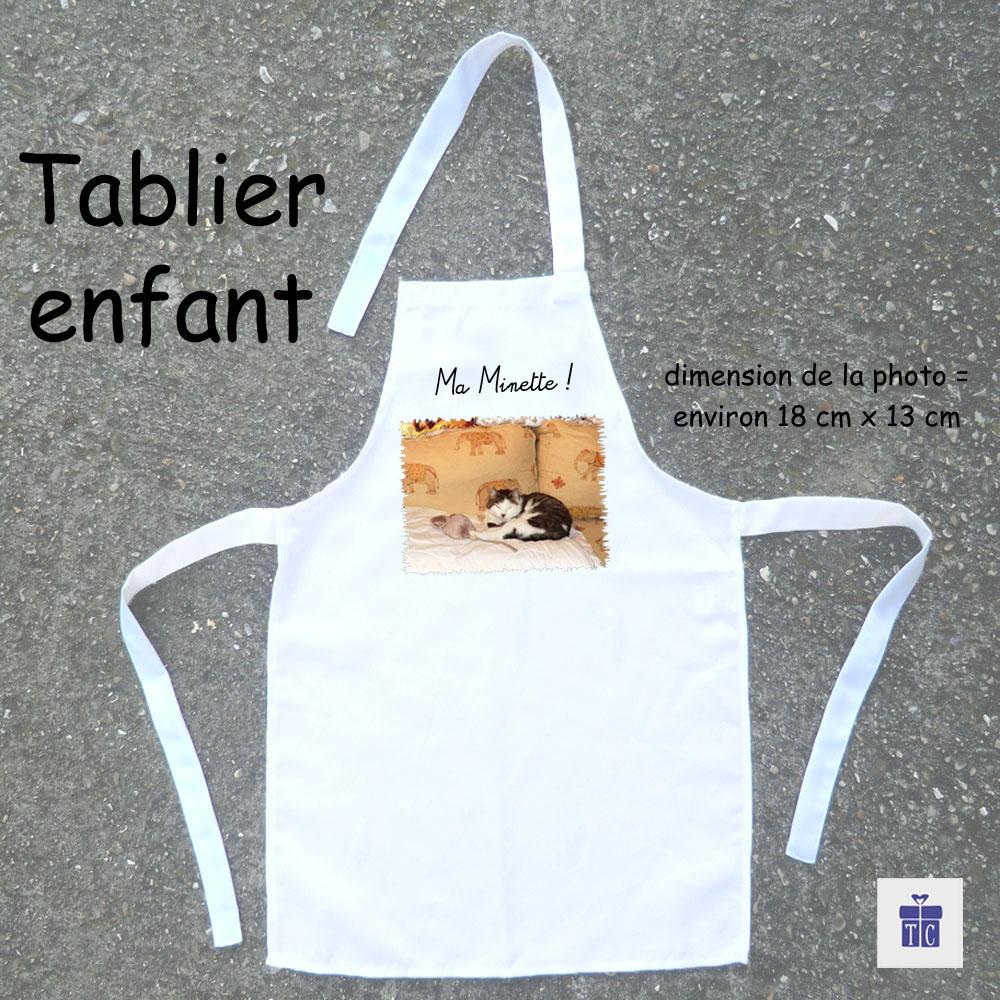 Tablier cuisine enfant