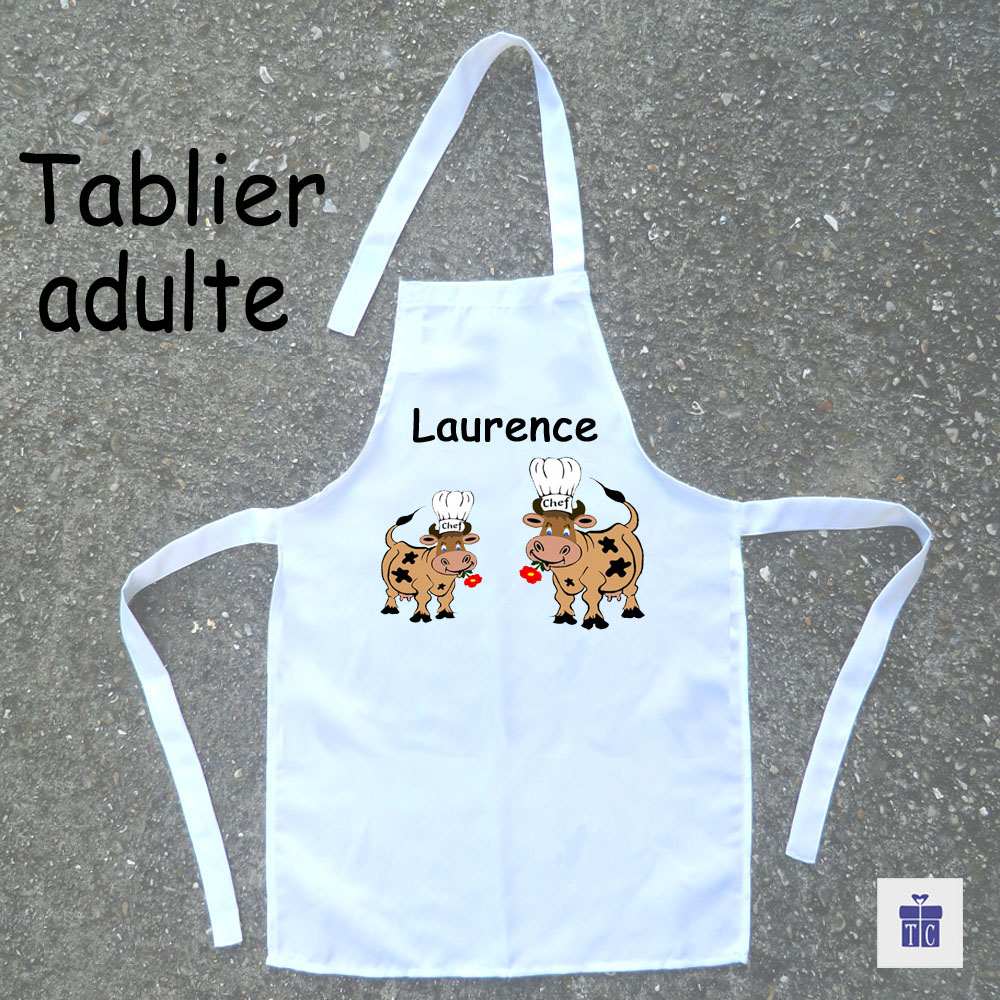Tablier cuisine adulte vache