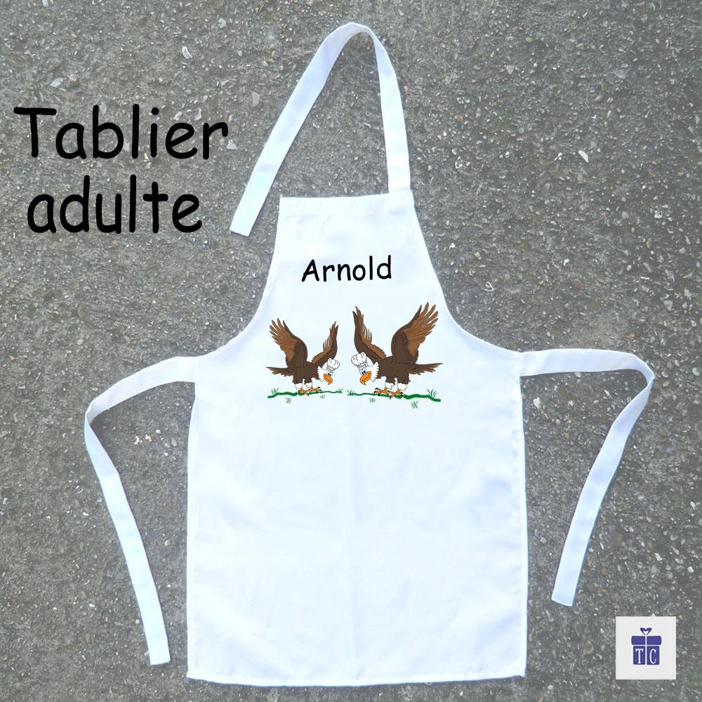 Tablier cuisine adulte aigle à personnaliser