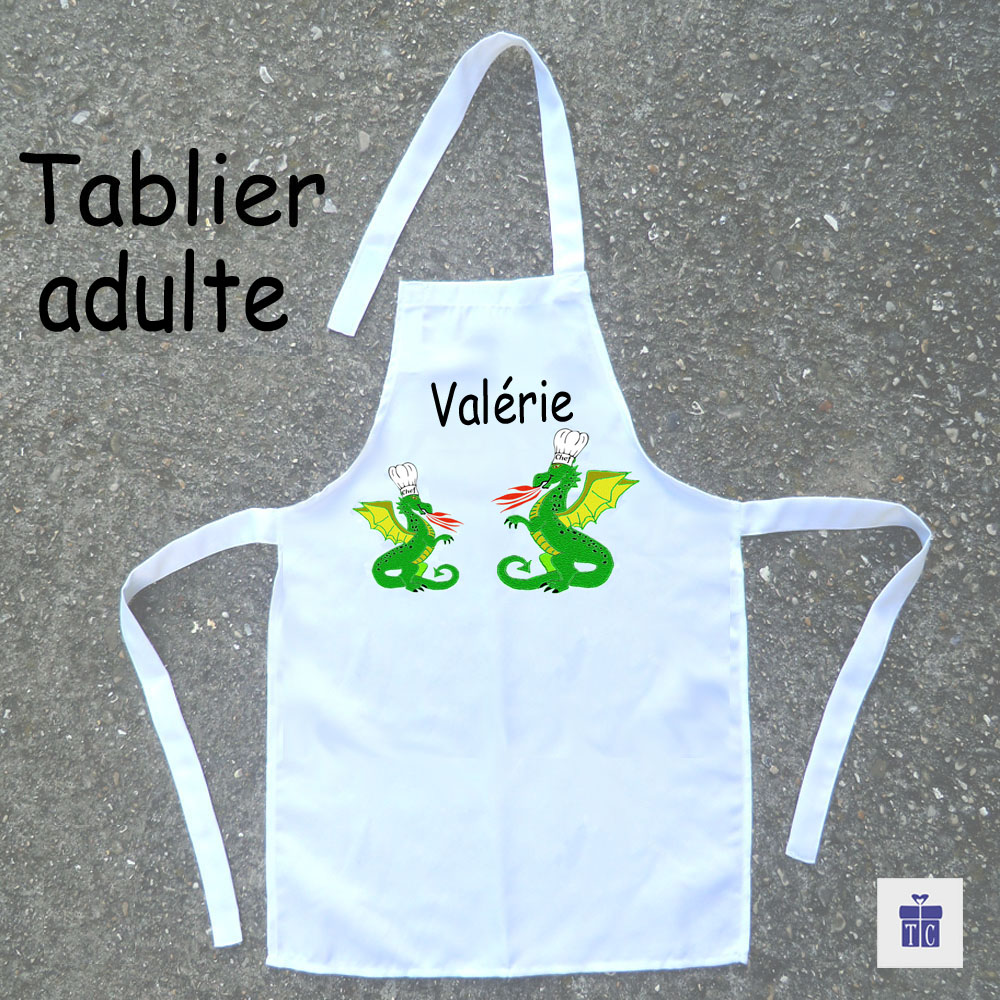 Tablier cuisine adulte Dragon