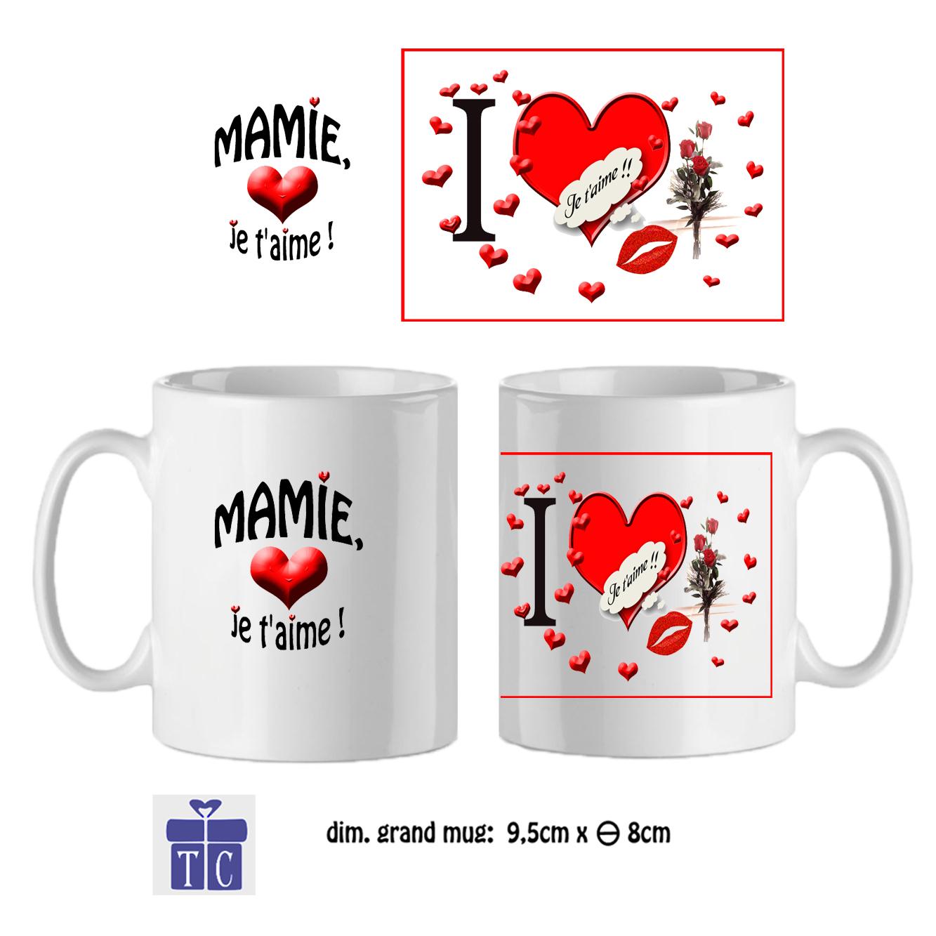 Mug  Mamie cœur