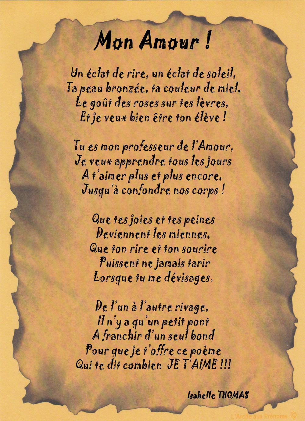 Un Poème sur l\'Amour un eclat