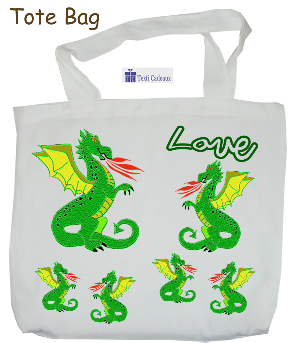 Tote Bags Dragon à personnaliser