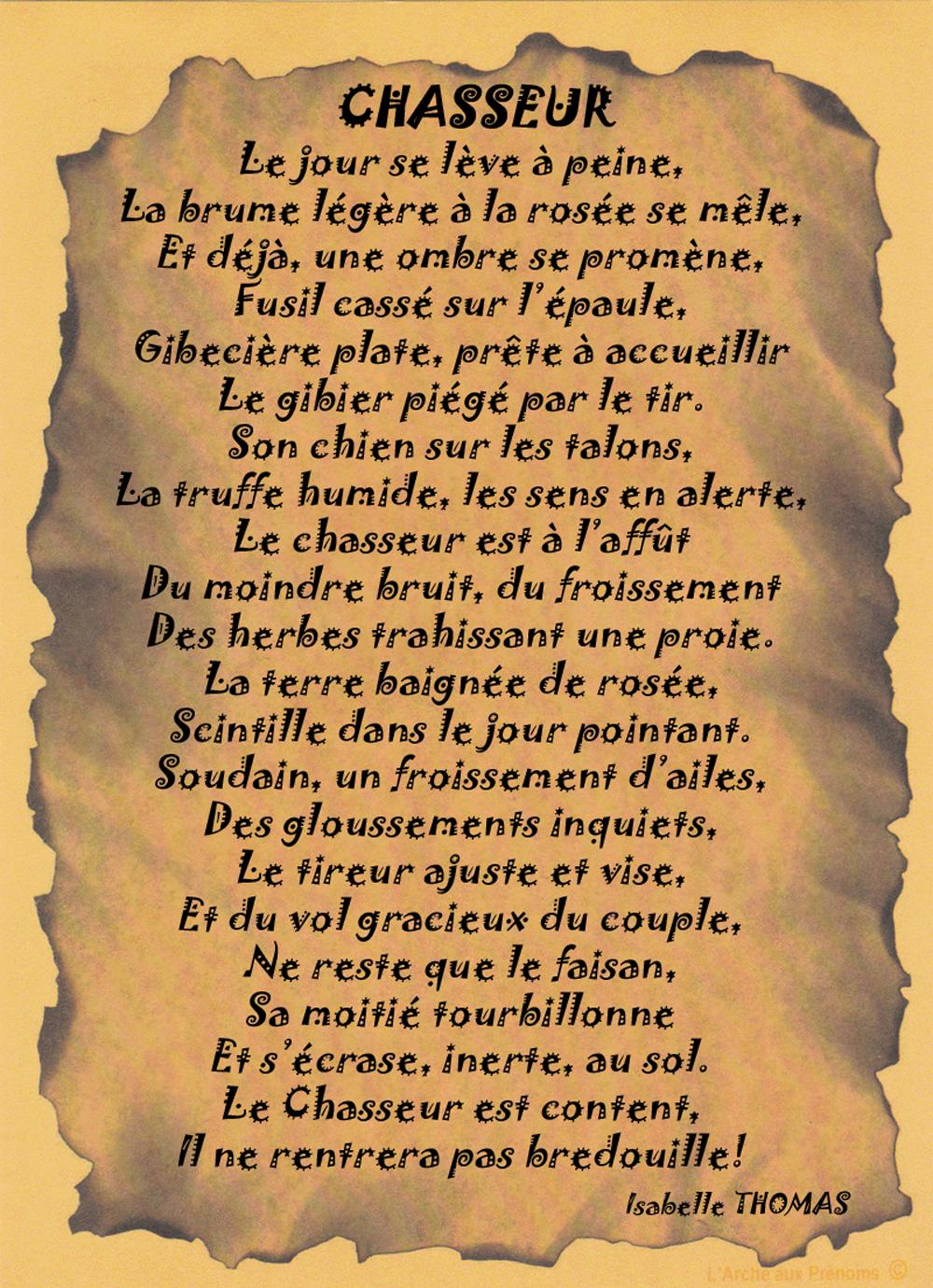Un Poème sur le Chasseur