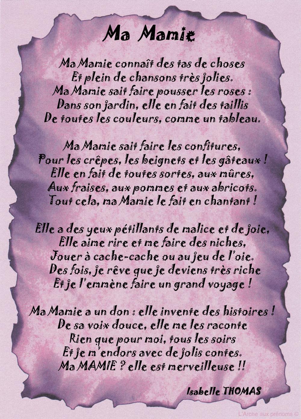 Un Poème pour ma mamie