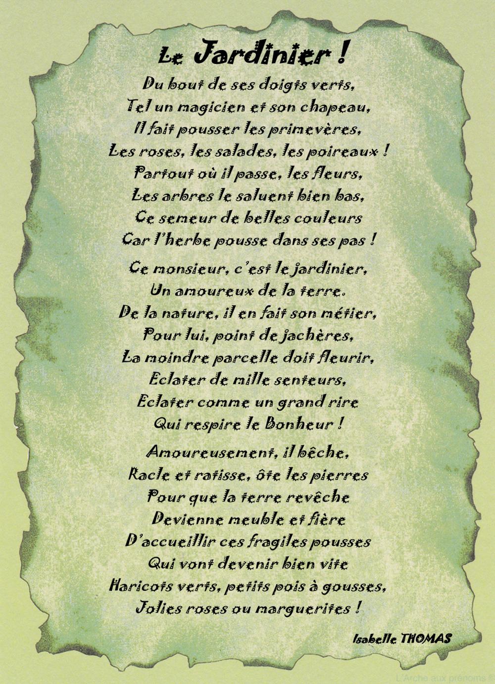 Un Poème sur un Jardinier