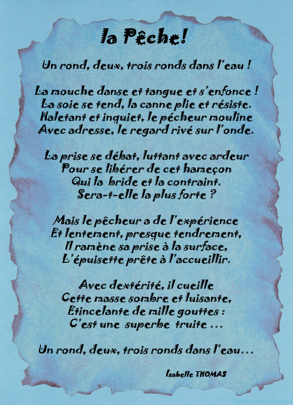 Poème Pêcheur
