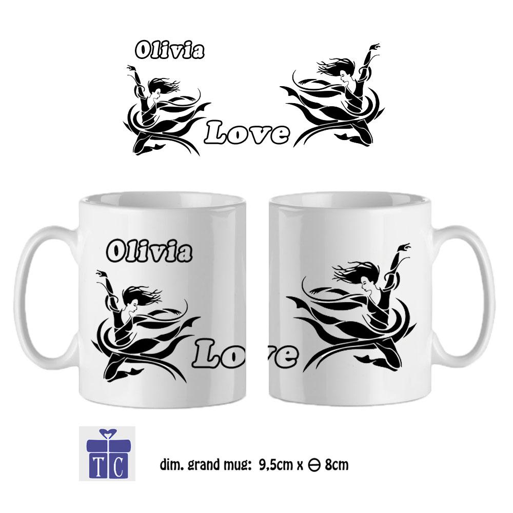 Mug Danseuse à personnaliser