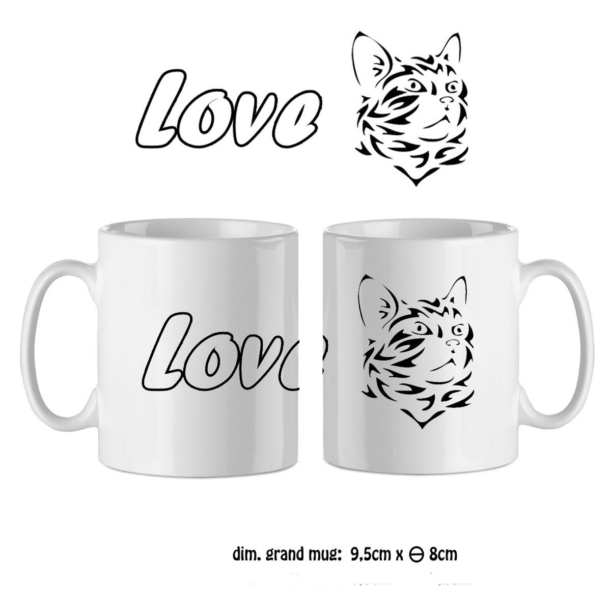 Mug tête de chat