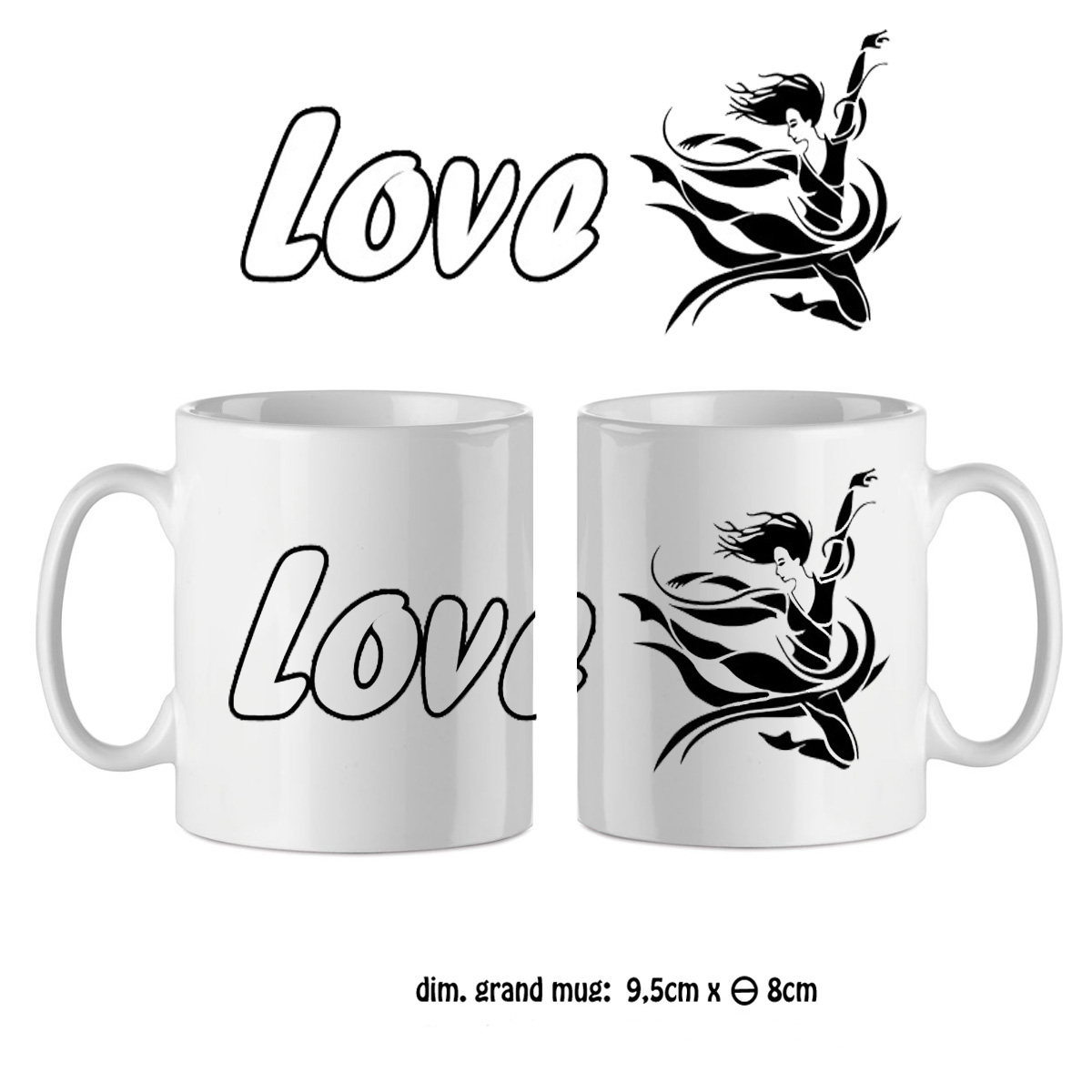 Mug danseuse love
