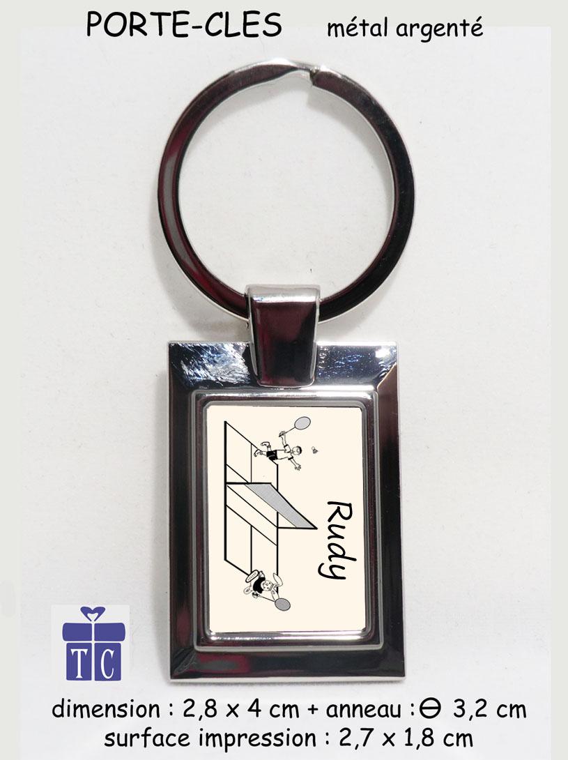 Porte clés Badminton à personnaliser