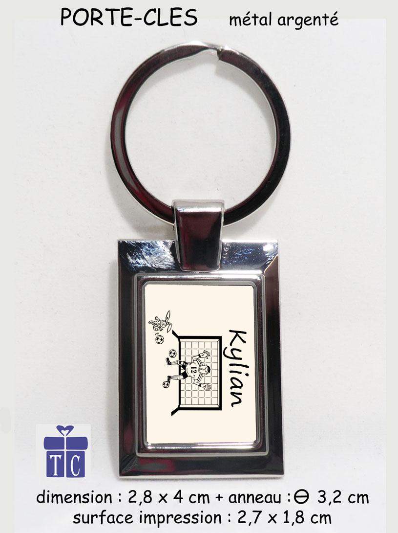 Porte clés Football à personnaliser