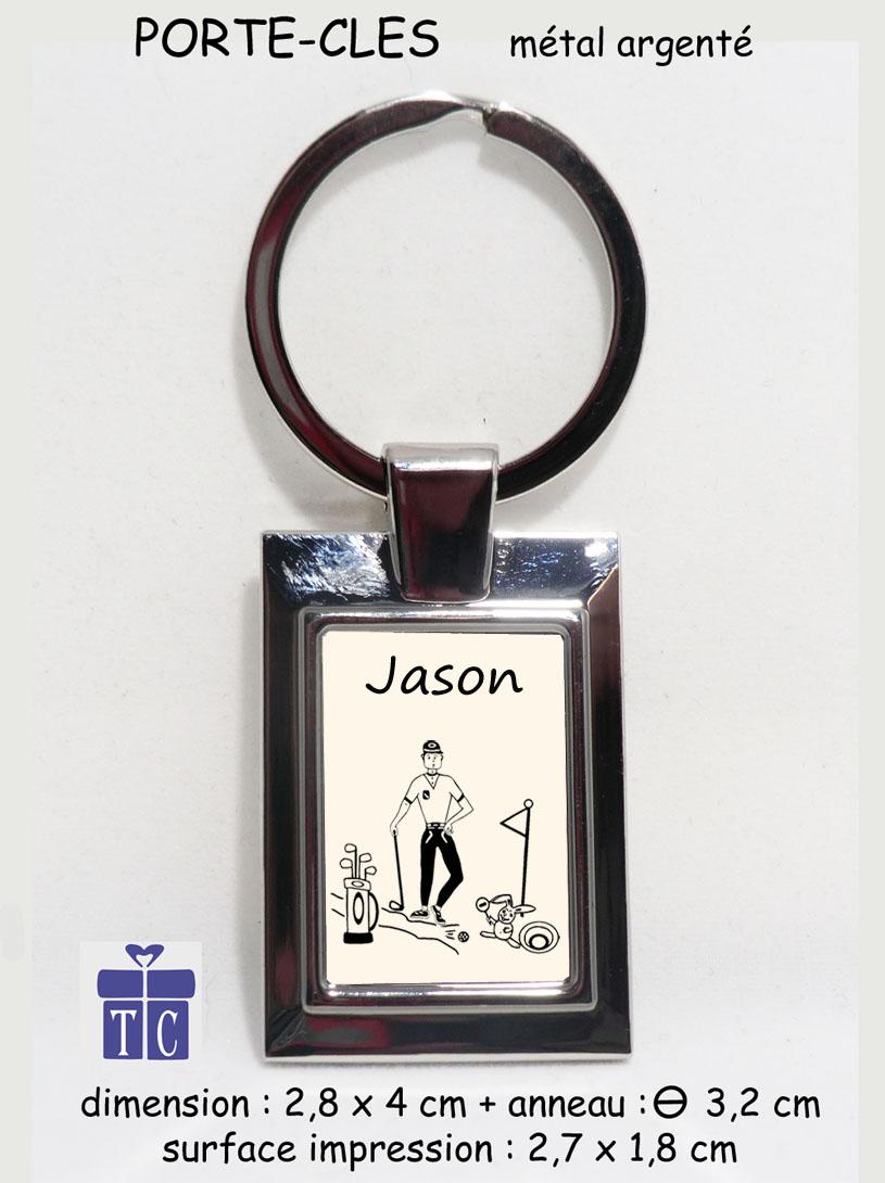 Porte clés Golf à personnaliser