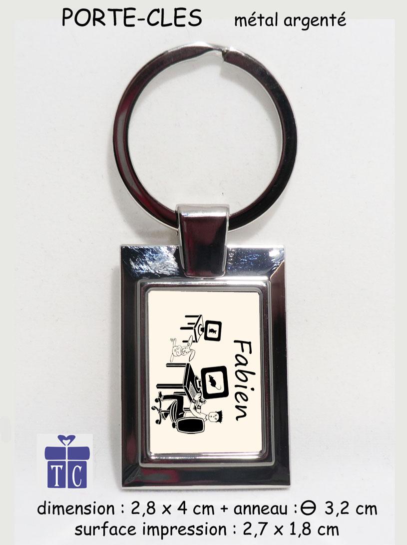 Porte clés Informaticien à personnaliser