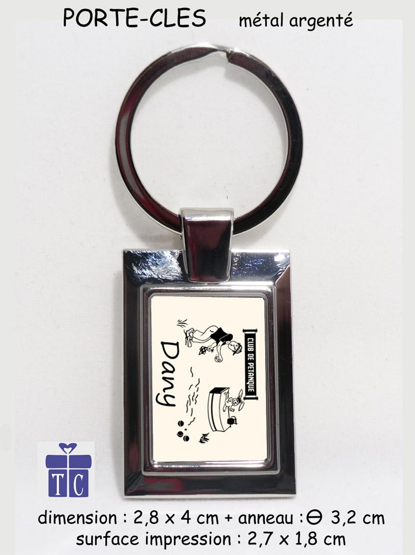 Porte clés Pétanque à personnaliser