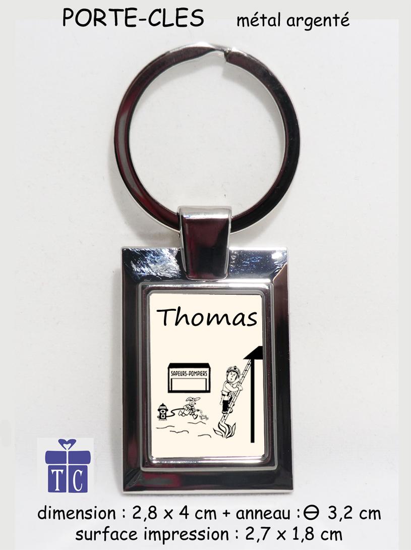 Porte clés Pompier à personnaliser