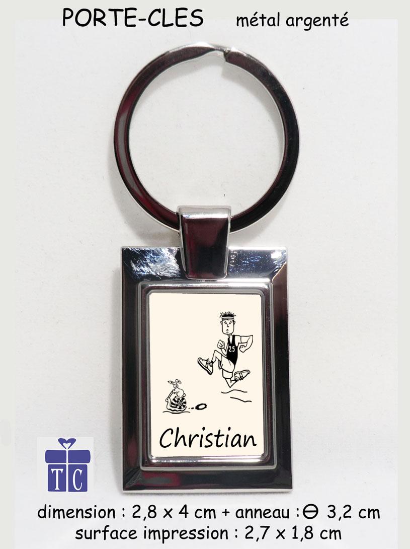 Porte clés Joggeur à personnaliser