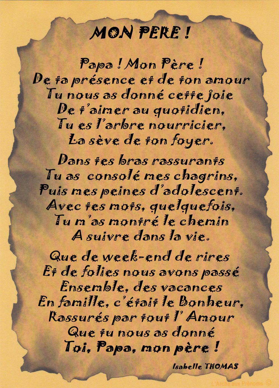 Un Poème pour mon père