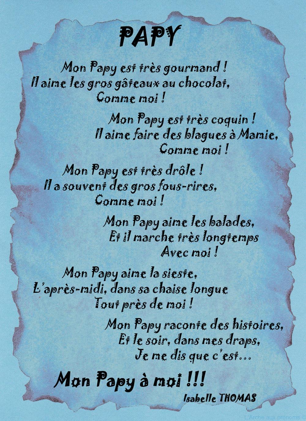 Un Poème pour mon papy