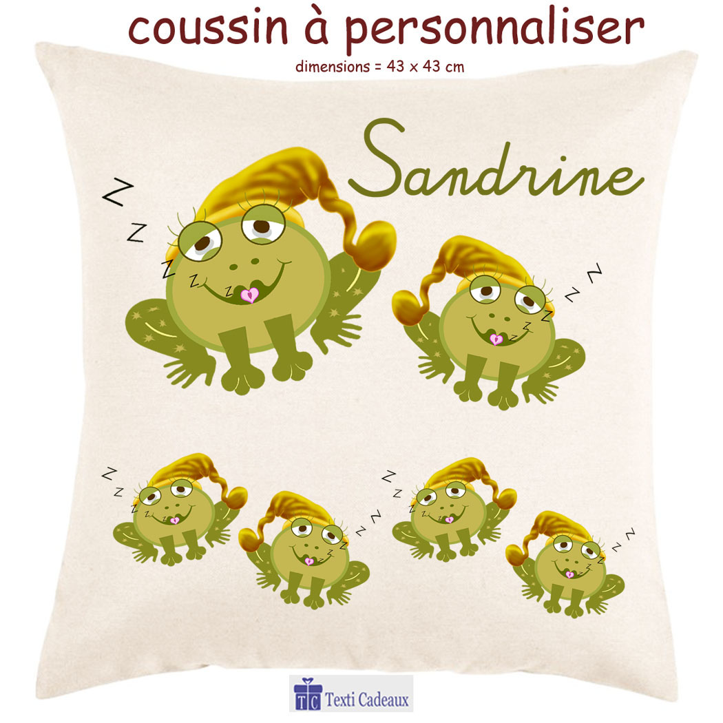 Coussin grenouille nuit