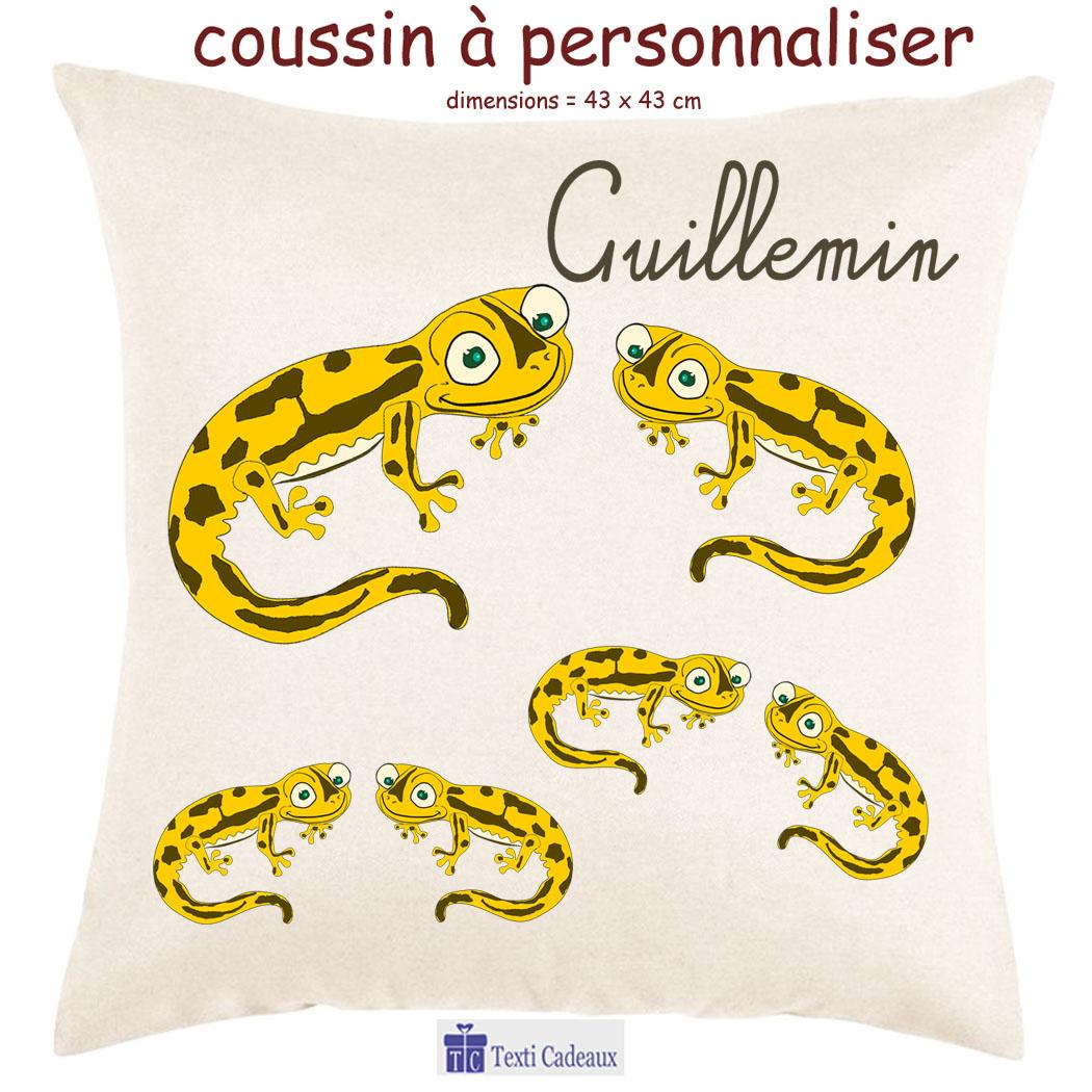 Coussin salamandre couleur