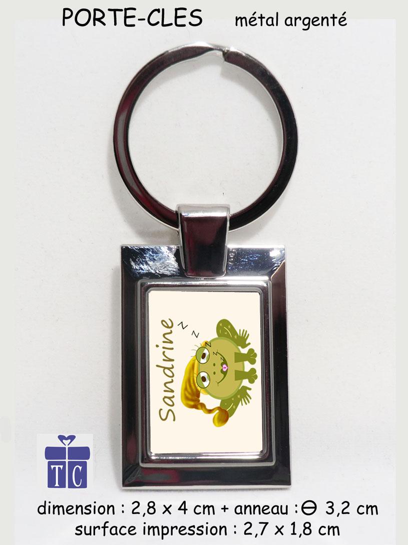 Porte clés grenouille bonnet