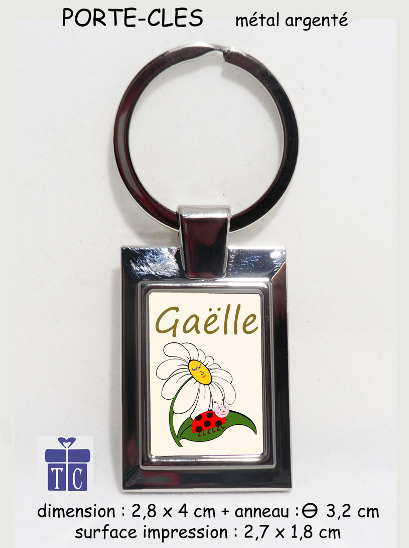 Porte clés coccinelle marguerite