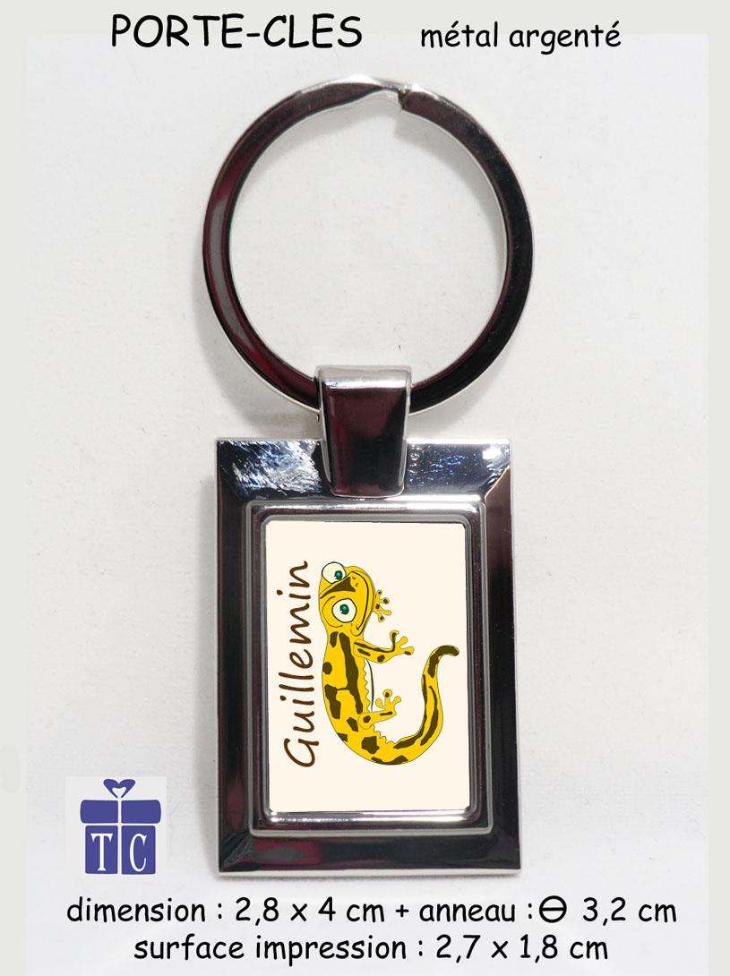 Porte clés salamandre couleur