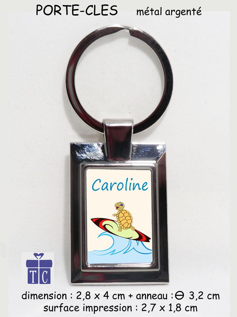 Porte clés tortue surf