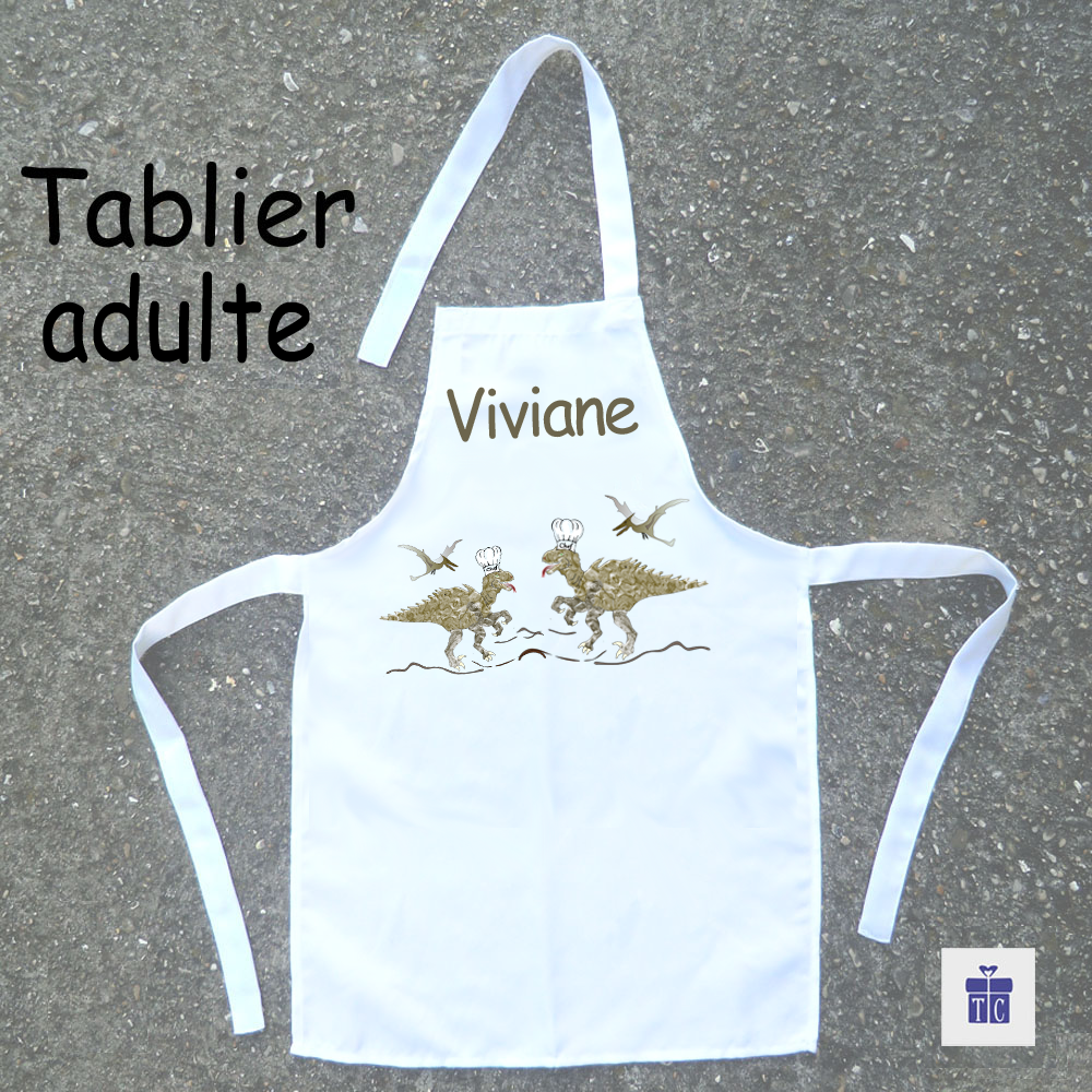 Tablier cuisine adulte dinosaure