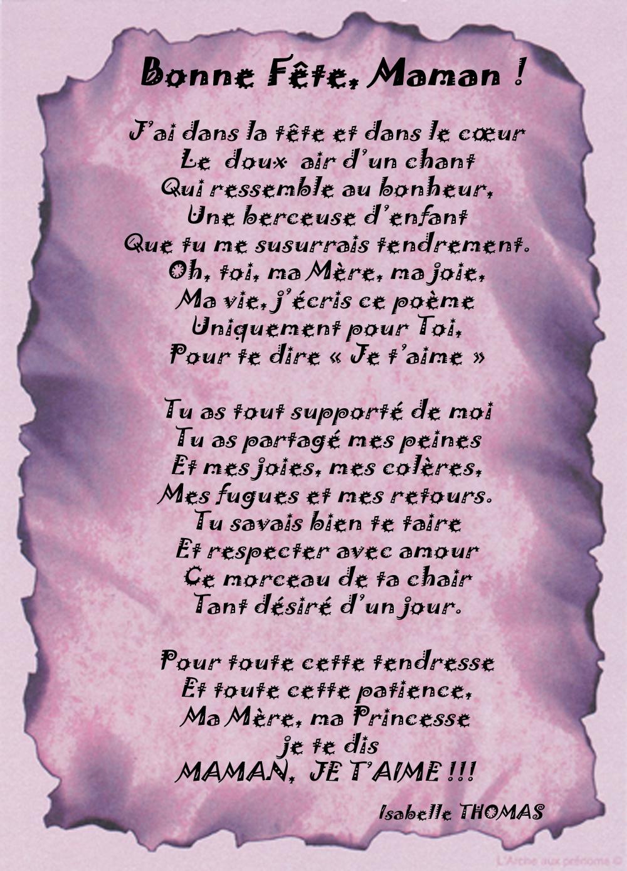 Poème Bonne Fête Maman 2