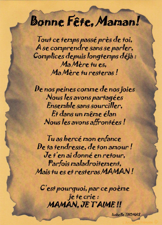 Poème Bonne Fête Maman 1