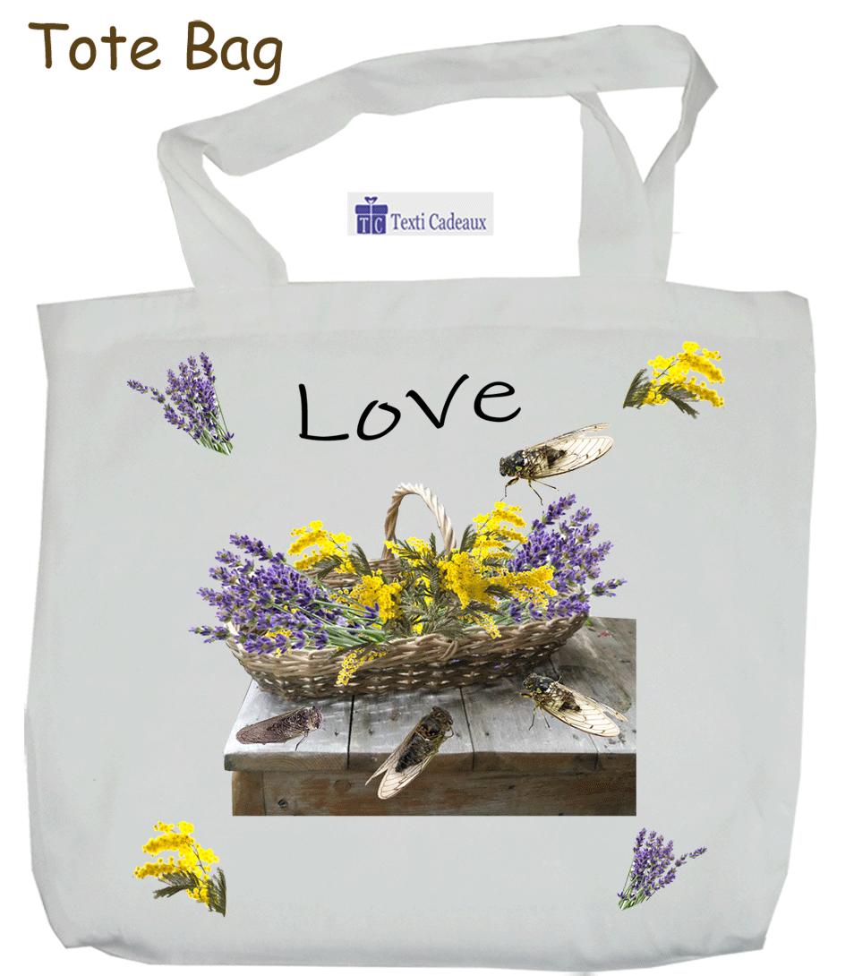 Tote-Bags Provençal Personnalisable avec un Prénom