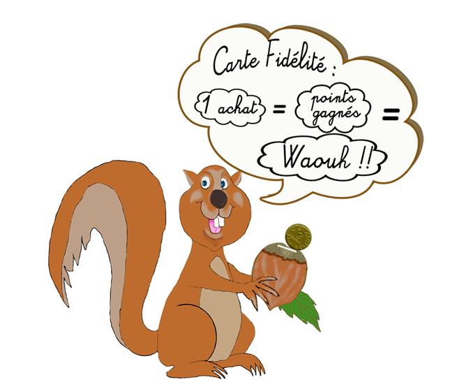 cadre personnalisation ecureuil gauche