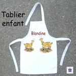 Tablier de Cuisine Enfant Dessin Chèvre Personnalisable avec un prénom